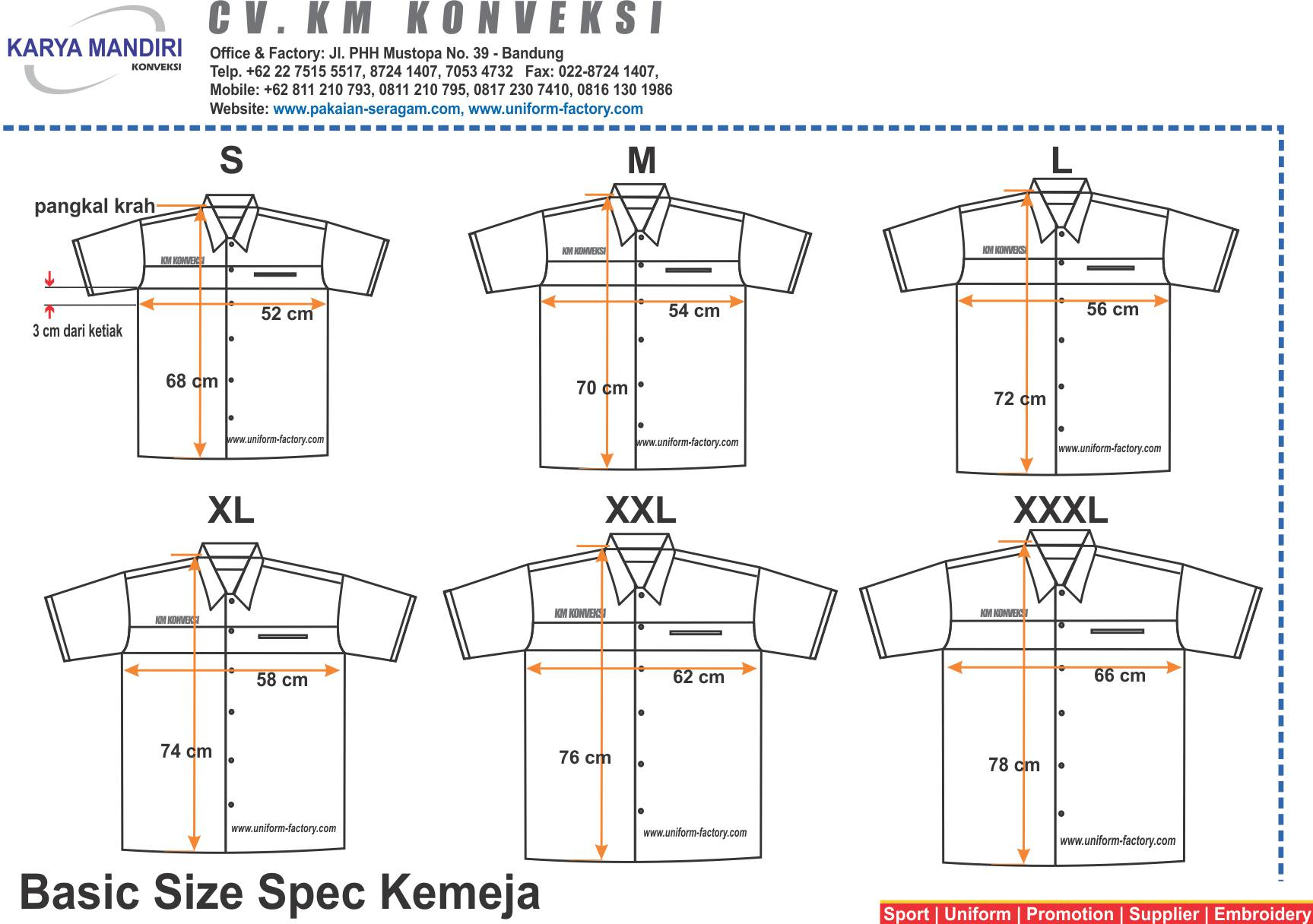 Konveksi Uniform Seragam Kerjakemejapolo Shirt Training Spak Wearpack Wear Pack Safety Model Setelan Size Spec Kemeja