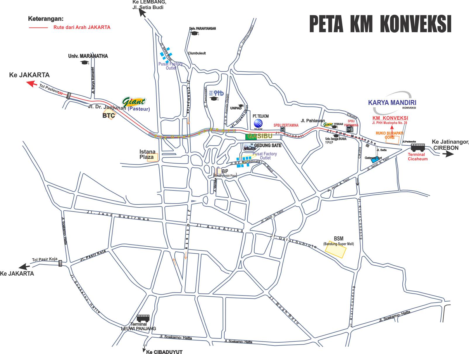 Alamat KM Konveksi Bandung